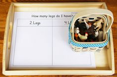 How Many Legs Do I Have? Animal Sort and More Farm Math Activities Using Free Printables (my post at PreK + K Sharing)