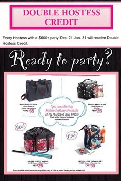 Ready to party with Thirty-One's great hostess exclusives!