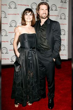 June 19, 2003    Tom Cruise and then-girlfriend Penelope Cruz arrive for the Excellence in Mentoring Awards on June 19, 2003 in New York City.