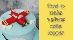 How to make a plane fondant cake topper tutorial https://www.youtube.com/watch?v=W8E7qoR9SBk