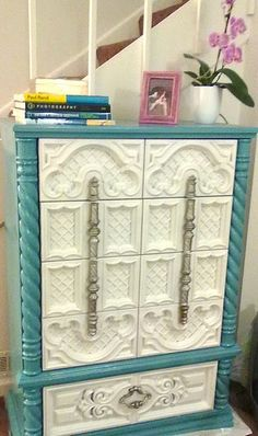Upcycled to gorgeous....fabulous piece made even better with perfect paint