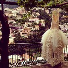 The Amalfi Coast and a Galia Lahv wedding gown