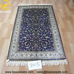 Hand knotted silk rug # Rug No.: P0357 # Quality: 230L (368kpsi) # Size: 3x5ft (122x183cm) # Material: 100% Silk # wholesale Price: $675/piece # If you have any interests, please email to sales@bosicarpets.com             Hand-madecarpet#orienatlrug#oldrug#Kashmirrug#Chinacarpet#Iraniancarpet#boteh#HeratiGul# Isfahan#Tabriz#Qum#Nain#Kashan#Kerman#Bijar#Sarouk#Caucasian#antiquecarpet#bosicarpet