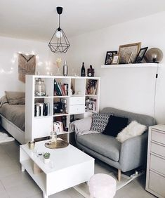 49 Incredible Apartment Decor Ideas For Amazing Apartment Room Ho. - 49 Incredible Apartment Decor Ideas For Amazing Apartment Room Home is where the hea - Room Decor, Room Inspiration, Apartment Room, Living Room Decor, Room Makeover, Apartment Decor, Beautiful Dorm Room, Bedroom Design, Dorm Room Decor