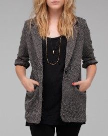 tweed blazer with all black.  Love.