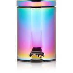 Bring a spectrum of colour into the bathroom with this sleek, iridescent pedal bin from George Home. Rainbow Kitchen, Mermaid Bathroom, Peacock Bathroom, Unicorn Rooms, Unicorns And Mermaids, Gadgets, Gothic House, My New Room, Home Look