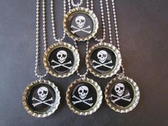 pirate bottle cap necklace favors, $2.00 each-love these!