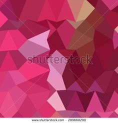 Low polygon style illustration of a brilliant rose pink abstract geometric background.
