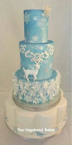 large cake with winter style