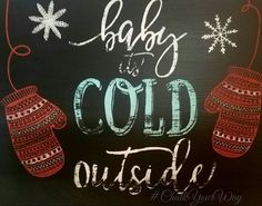 Part of my chalkboard door! To see the finished look head over to my VIP group! https://www.facebook.com/groups/ChalkYourWay/ #ChalkCouture #ChalkYourWay #Christmas #Chalkboards #Winter #Chalk