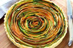 Receita passo a passo: como fazer uma torta espiral de legumes