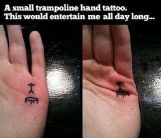 small trampoline tattoo