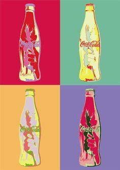 Pop Art inspired  Coca Cola Poster.