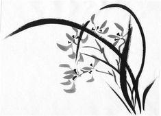 Sumi-e orchid