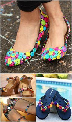 Beautified Button Shoes