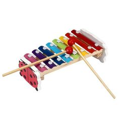 #Xylophone toy sounds very #melodious when you knock it. And each piece of metal knock voice is different. Can Inspire children's talent for music. #babything #baby #toys #funtime #funwithtoys #babies #enjoyment #childhood #fun #toddlers #kids