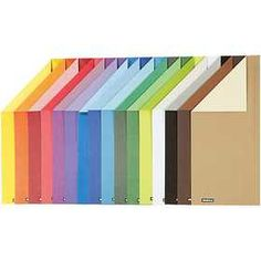Color Bar - Assortiment #papier, A4 21x30 cm, 100 gr, 16 assorti vel