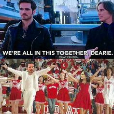 Rumple as Gabriella. Hook as Troy. I'm dying!!!!