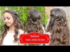 Princess Aurora Twistback | Inspired by Disney's Maleficent #hairstyles #hairstyle #maleficent #disney #twists #cutegirlshairstyles #aurora