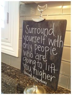 Chalk board in the kitchen....gotta get something like this for daily quotes, menu, reminders, family notes, etc.