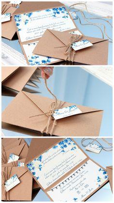 hochzeitseinladung hochzeit einladung zur hochzeit hochzeitskarte einladungskarte hochzeits einladung handgefertigt einladungen rustikal vintage blau kornblume einladungs