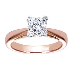 0.20ct Diamond Ring 14k Rose Gold Engagement Ring Solitaire Princess  #DesignCreation #Solitaire