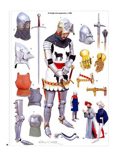 Knight and equipment c.1390