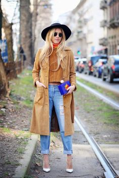 Street Style at Autumn Winter 2015, Milan Fashion Week, Italy - 01 Mar 2015
