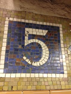 Number 5 in a NYC subway station.