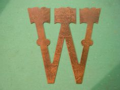 """10"""" Rusted Rustic Metal Letter W. $13.00, via Etsy. Letter W, Metal Letters, Alphabet, Numbers, Symbols, Rustic, Unique Jewelry, Handmade Gifts, Projects"""
