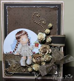 Luv this Brown Magnolia Card