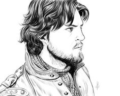 The Musketeers - Athos fan art.