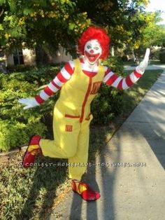 Fun Homemade Ronald McDonald costume. Ba da ba ba ba...I'm loving it