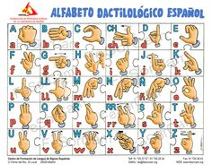 Fingerspelling alphabet in LSE- lengua de signos española (Spain Sign Language)