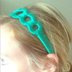 Teal Satin Headband Made in the USA Accessories Hair Accessories
