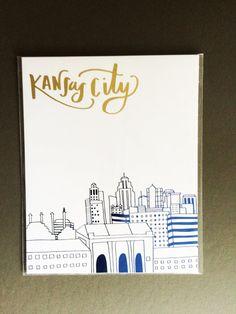 "Kansas City Wall Art kansas city crossroads"" screen printed poster | print poster"