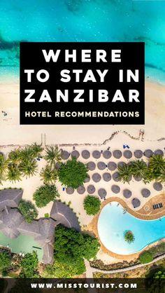 Best Zanzibar Hotels – Where to Stay on the Island (with prices! Zanzibar Hotels, Zanzibar Beaches, Zanzibar Honeymoon, Africa Destinations, Travel Destinations, Travel Tips, Air Travel, Travel Packing, Budget Travel