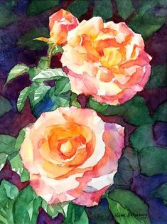 "Daily Paintworks - ""Rose Glamour"" - Original Fine Art for Sale - © Kim Stenberg"
