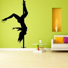 Wall Decal Girl Dance Plasty Relax Zone Pin up Girl Stripteaser Strip M1252. Thank you for visiting our store!!! Please read the whole description about this item and feel free to contact us with any questions! Vinyl wall decals are one of the latest trends in home decor. Vinyl wall decals give the look of a hand-painted quote, saying or image without the cost, time, and permanent paint on your wall. They are easy to apply and can be easily removed without damaging your walls. Vinyl wall...