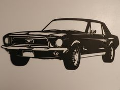 Vintage Ford Mustang Metal Wall Art by SunsetMetalworks on Etsy