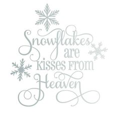 Excited to share this item from my shop: Snowflakes are Kisses from Heaven SVG Cricut Christmas Ideas, Christmas Stencils, Christmas Vinyl, Noel Christmas, Christmas Projects, Holiday Crafts, Christmas Decorations, Christmas Ornaments, Holiday Quotes Christmas