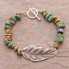 (http://www.elizabethplumbjewelry.com/floating-leaf-turquoise-bracelet/)