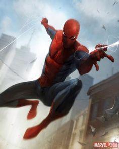 Spider-Man card art by Francesco Mattina from Marvel War of Heroes