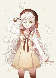 Anime, manga, and video game fan-art artworks from Pixiv (ピクシブ) — a Japanese online community for artists. pixiv - It's fun drawing! Manga Girl, Manga Kawaii, Loli Kawaii, Cute Anime Chibi, Chica Anime Manga, Kawaii Anime Girl, Otaku Anime, Fan Art Anime, Anime Artwork