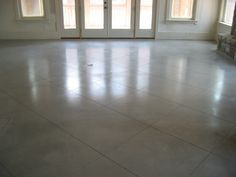Scored and polished concreted