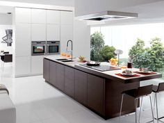 Cozinha com ilha sem alças FILOVANITY TOP - Euromobil