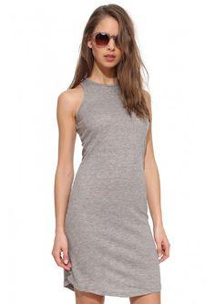 Sleeveless Midi Dress in Grey | Necessary Clothing