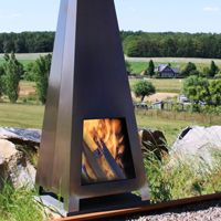 WARROO Fire places | Corten and Stainless Steel by ABK Outdoor