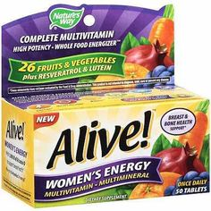Save on Nature's Way Alive Multivitamins with this Printable Coupon!