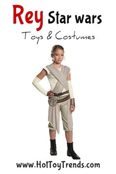Rey Star Wars Costumes will be hot this Halloween, especially on small girls.  Check out a 5 year old dressed as Rey and all ready to handle any challenge!